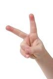 Dois dedos fotos de stock royalty free