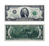 Dois dólares Imagens de Stock