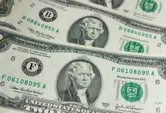 Dois-dólares da conta Fotografia de Stock Royalty Free