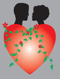 Dois do heartson Imagem de Stock Royalty Free