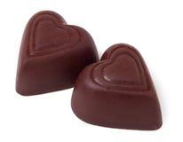 Dois doces heart-shaped fotografia de stock royalty free