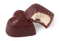 Dois doces heart-shaped imagem de stock royalty free