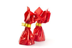 Dois doces vermelhos Foto de Stock