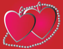 Dois dos corações Fotografia de Stock Royalty Free