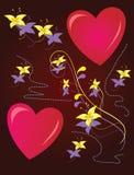 Dois dos corações Imagem de Stock Royalty Free