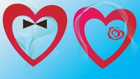 Dois dos corações Fotos de Stock Royalty Free