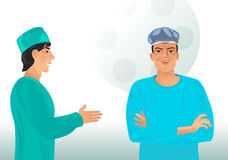 Dois doutores novos Fotografia de Stock Royalty Free