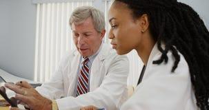Dois doutores que trabalham junto imagem de stock royalty free