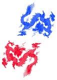 Dois dragões ilustração do vetor