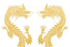 Dois dragões Foto de Stock
