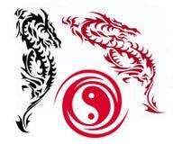Dois dragões Ilustração Royalty Free