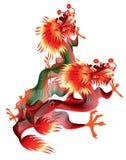 Dois dragões chineses no fundo branco ilustração royalty free