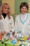 Dois druggists   Foto de Stock