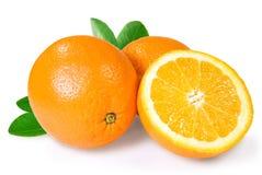 Dois e uma metade da laranja Imagem de Stock