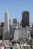 Dois edifícios os mais altos em San Francisco Fotos de Stock