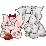 Dois elefantes amorous ilustração stock