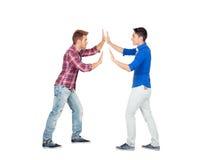 Dois enfrentaram homens novos Fotografia de Stock Royalty Free