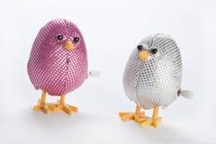 Dois enrolam acima ovos de Easter foto de stock
