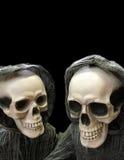 Dois esqueletos de risada à socapa Imagens de Stock Royalty Free