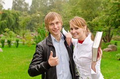 Dois estudantes imagens de stock royalty free