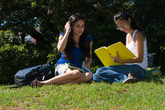 Dois estudantes Fotos de Stock