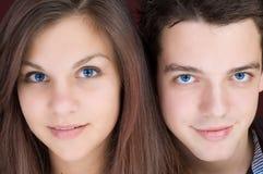 Dois estudantes Fotografia de Stock
