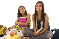 Dois estudantes Foto de Stock Royalty Free