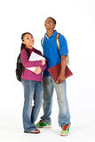 Dois estudantes de riso - vertical Fotografia de Stock Royalty Free