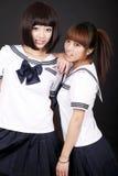 Dois estudantes fêmeas Imagens de Stock