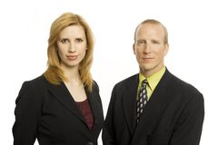Dois executivos Foto de Stock Royalty Free