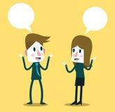Dois executivos que falam e que discutem Imagem de Stock Royalty Free