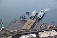 Dois ferryboats na doca Imagem de Stock Royalty Free