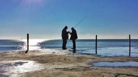 Dois fishermans Foto de Stock Royalty Free