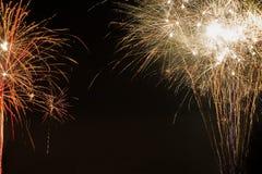 Dois fogos-de-artifício abstratos Imagem de Stock
