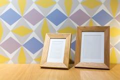 Dois frames de retrato de madeira Foto de Stock Royalty Free