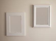 Dois frames de retrato vazios Fotografia de Stock