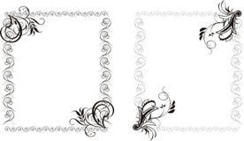 Dois frames decorativos Fotografia de Stock Royalty Free