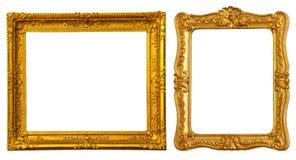 Dois frames do ouro Fotografia de Stock