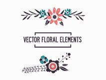 Dois frames florais ilustração stock