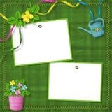 Dois frames para o cumprimento ou as felicitações Fotografia de Stock