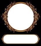 Dois frames retros ornamentado Fotografia de Stock Royalty Free