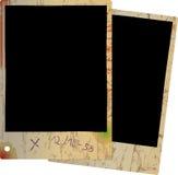 Dois frames velhos da foto ilustração stock