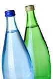 Dois frascos da água de soda, close up Fotografia de Stock Royalty Free