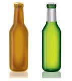 Dois frascos da cerveja Fotografia de Stock
