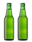 Dois frascos da cerveja Fotos de Stock Royalty Free