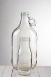 Dois frascos de vidro Imagens de Stock