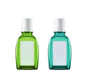 Dois frascos plásticos Foto de Stock Royalty Free