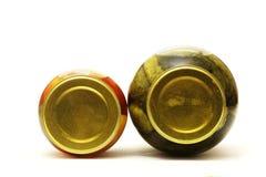 Dois frascos vítreos Fotos de Stock Royalty Free