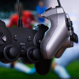 Dois gamepads Foto de Stock Royalty Free