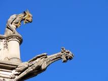 Dois Gargoyles Imagem de Stock